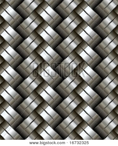 Woven metal seamless pattern - texture pattern for continuous replicate.