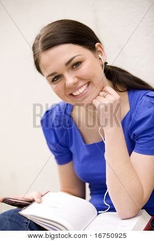 Young cheerful woman