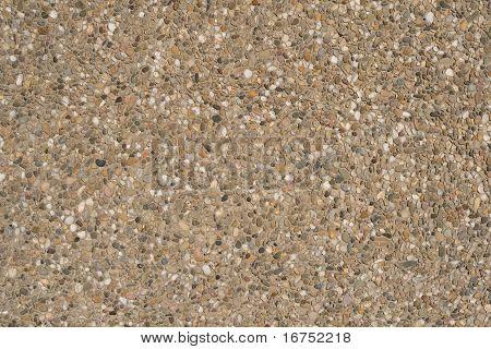 Expuesto concreto agregado y lavado concreto