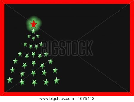 Star Christmas Tree Over Black #3