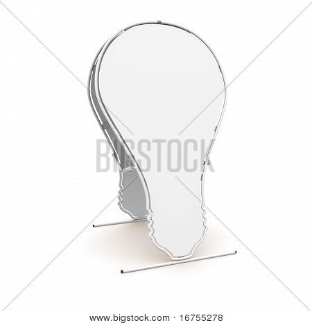 white advertising billboard in the form of light bulbs