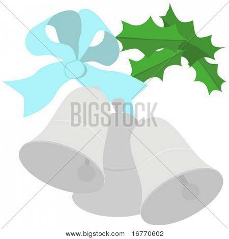 Sinos de prata simples, elegantes. Para casamentos, festas e outras celebrações. SEM efeitos específicos de CS