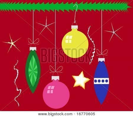 Formas de enfeite de Natal. Todos os vetores - inclui sem efeitos de CS-específicos (como gradientes) e então s