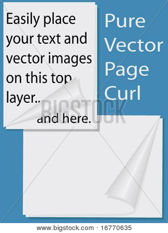 In easy-to-use layers, so you have only to add your vector images & text to the layers to get the effect.  Pure vector - NO Illustrator CS gradients or other effects used.