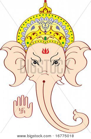 Ganesh Face giving Blessing