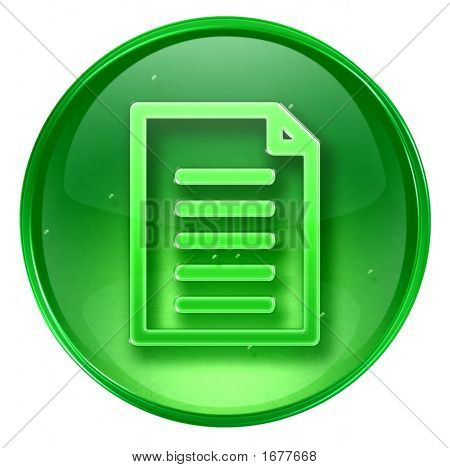 Document Icon. (With Clipping Path)