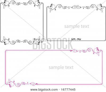 Delicate Border, Frame design