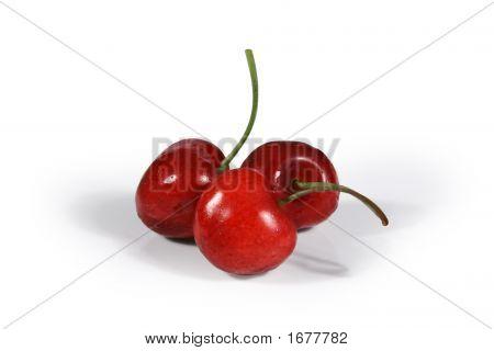 Three Juicy Cherries