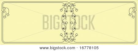 Dual Love Heart Border, Frame design