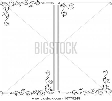 Border, Frame, Center piece designs