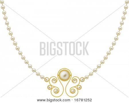 Pearl Gold Jewellery Necklace,