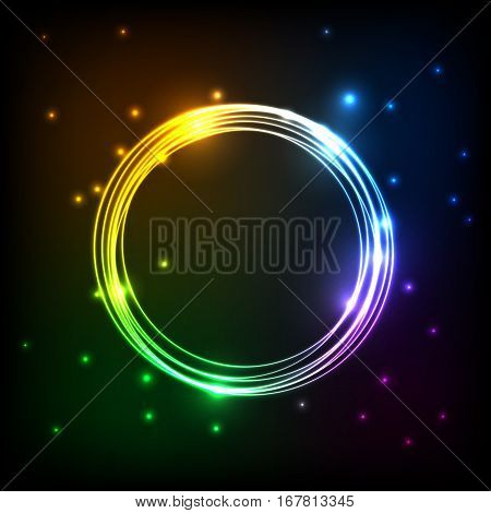 Abstract colorful plasma with circles background, stock vector
