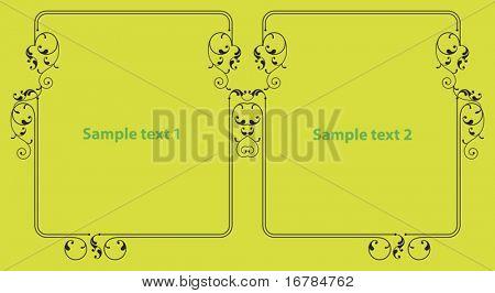 Dual Border, Frame designs