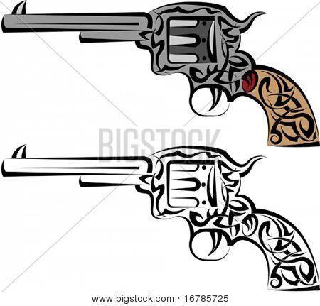Tattoo Gun, Revolver, Pistol,
