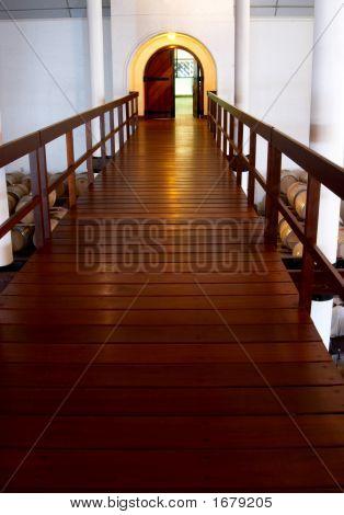 Walkway In The Cellar In Franschhoek