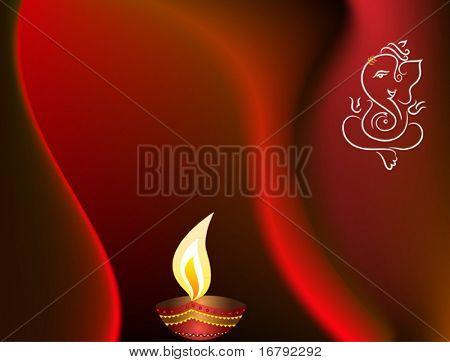 Ganesha Diwali Card