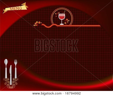 Plantilla de tarjeta de menú