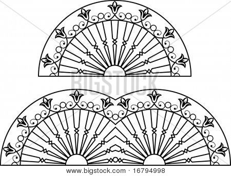 Wrought Iron Fire place grill design