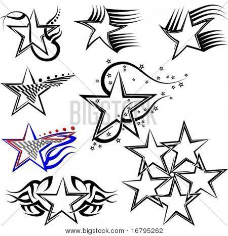 Star Tattoo Set