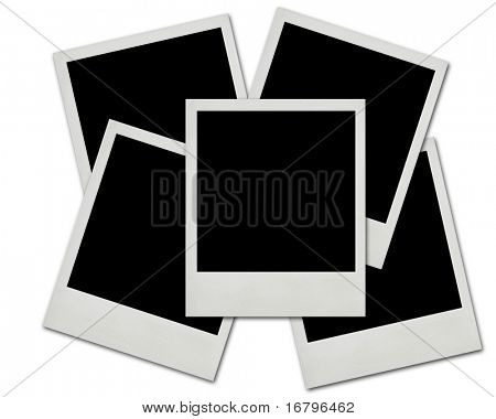 Blank instant photos isolated on a white