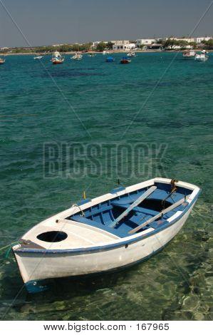 Row Boat In Harbor