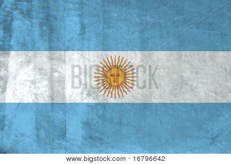 Grunge Flag of Argentina