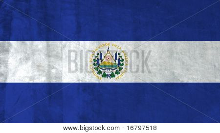 Grunge Flag of El Salvador