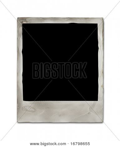 Blank vintage card with soft shadow, hi-res
