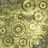Постер, плакат: Искусство цветочный шаблон