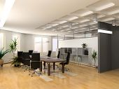 picture of interior  - the modern office interior design  - JPG