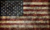 stock photo of american flags  - American flag background - JPG