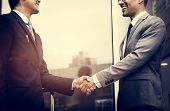 Business Men Agreement Deal Hands Shake poster