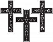 Vector Design Cross ornamentais