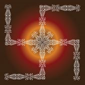 foto of swastik  - Swastica Holy motif Abstract Background - JPG