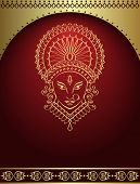 stock photo of navratri  - Durga Calligraphic ornamental - JPG