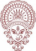 image of durga  - Durga Greeting - JPG