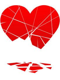 picture of broken-heart  - A Broken Heart Falls to Pieces in a break up or divorce - JPG