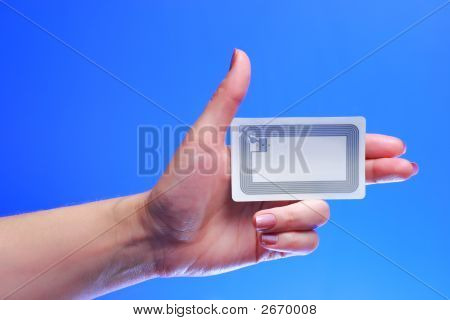 Hand With Epc Rfid Tag