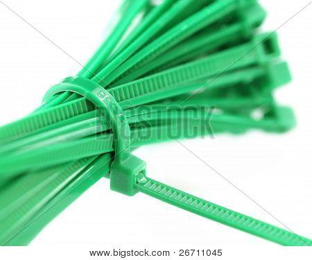 Close up of zip tie
