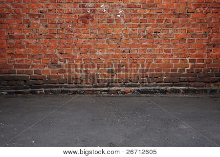 old brick wall: can be used as background