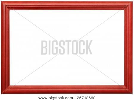 photo of wood frame for a picture, isolated on white