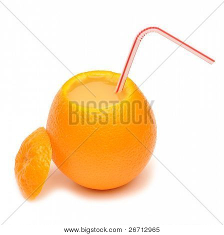 fresh squeezed orange juice isolated on a white background