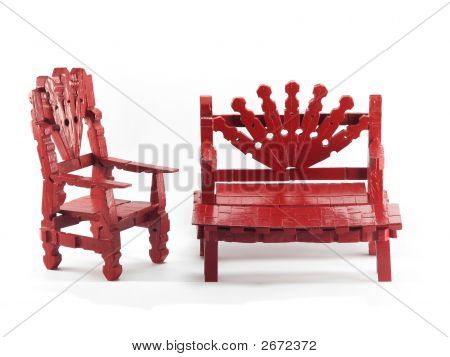 Red Toy Furniture Set