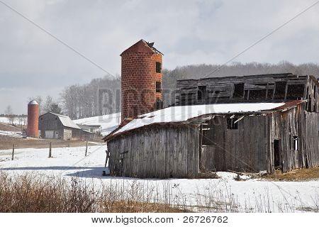 Barns in Winter