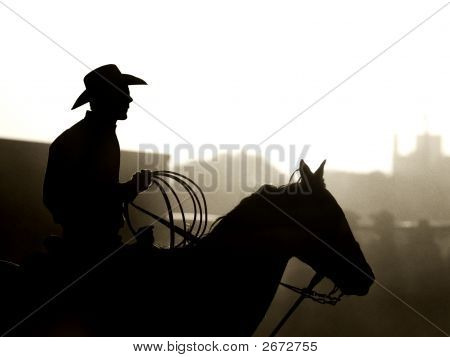 Vaqueiro em rodeio