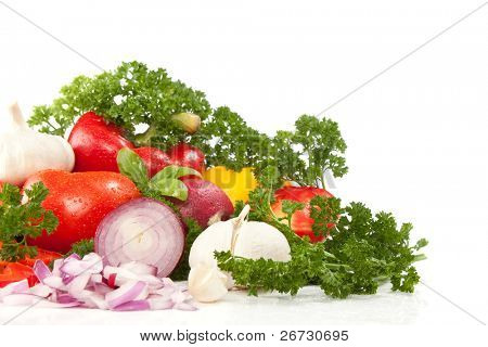 ripe vegetable, isolated on white background