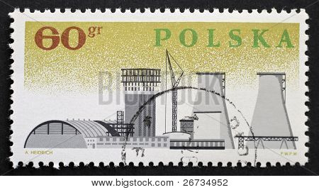 POLAND - CIRCA 1966: a stamp printed in Poland celebrates the Millennium of Polish state. Poland, circa 1966