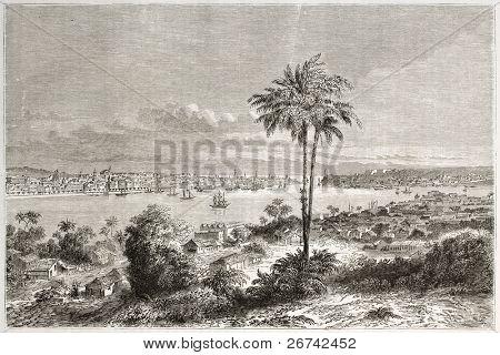 Antiga visão de Havana, Cuba. Criado por Lancelot, publicado em Le Tour du Monde, Paris, 1860