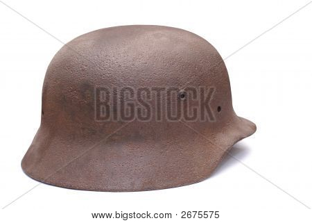 Old German Army Helmet