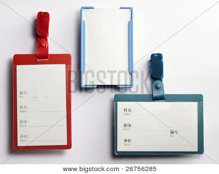 3 different type of name tag holder